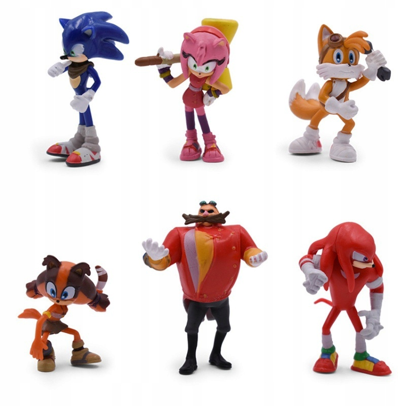 Sonic the hedgehog figuruje na 6 PCS 4. generácie