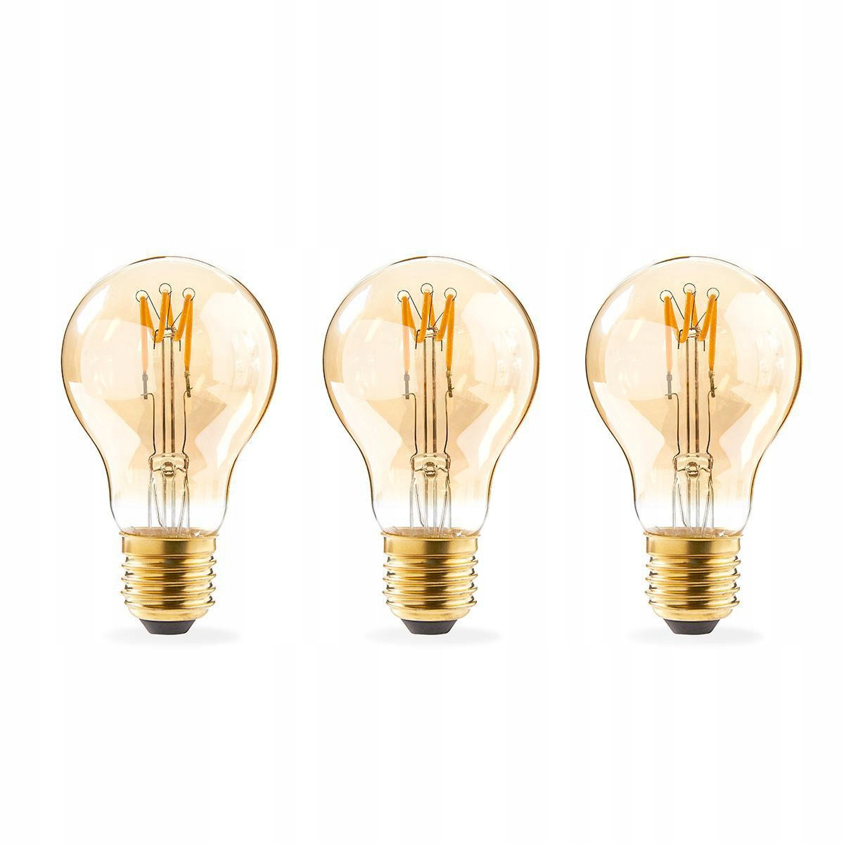 LED žiarovka Retro Filament E27 A60 3W 3bal