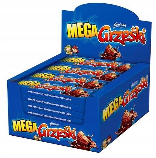 Купить GRZEŚKI MEGA вафли в шоколаде 48 г 32 шт. на Otpravka - цены и фото - доставка из Польши и стран Европы в Украину.