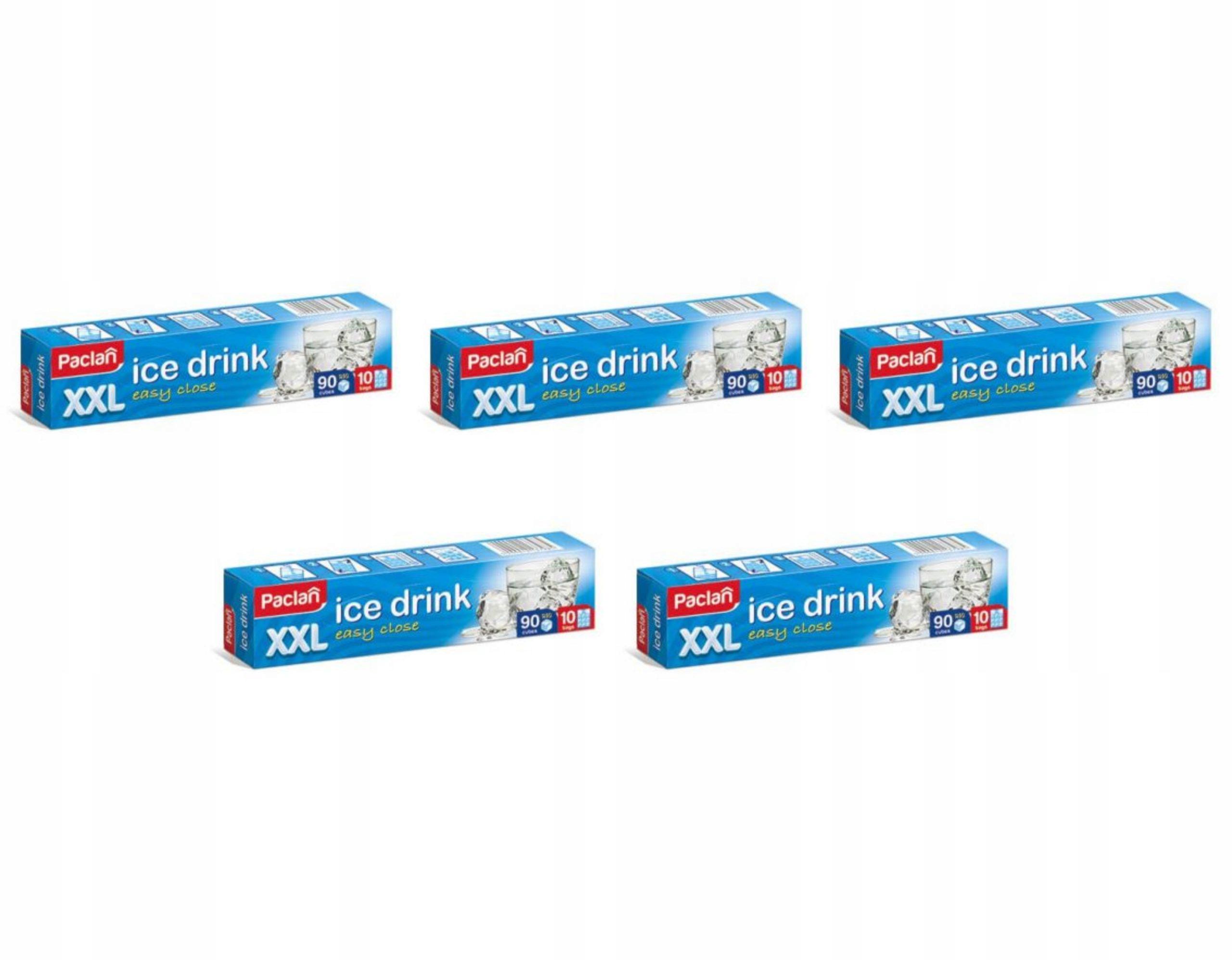 Пакетики для льда большой XXL 90 кубов 5 упаковок
