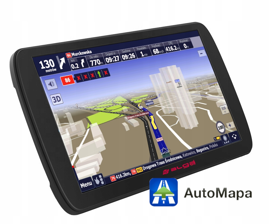 """Nawigacja GPS ALGA A9 + AutoMapa licencja 9"""""""