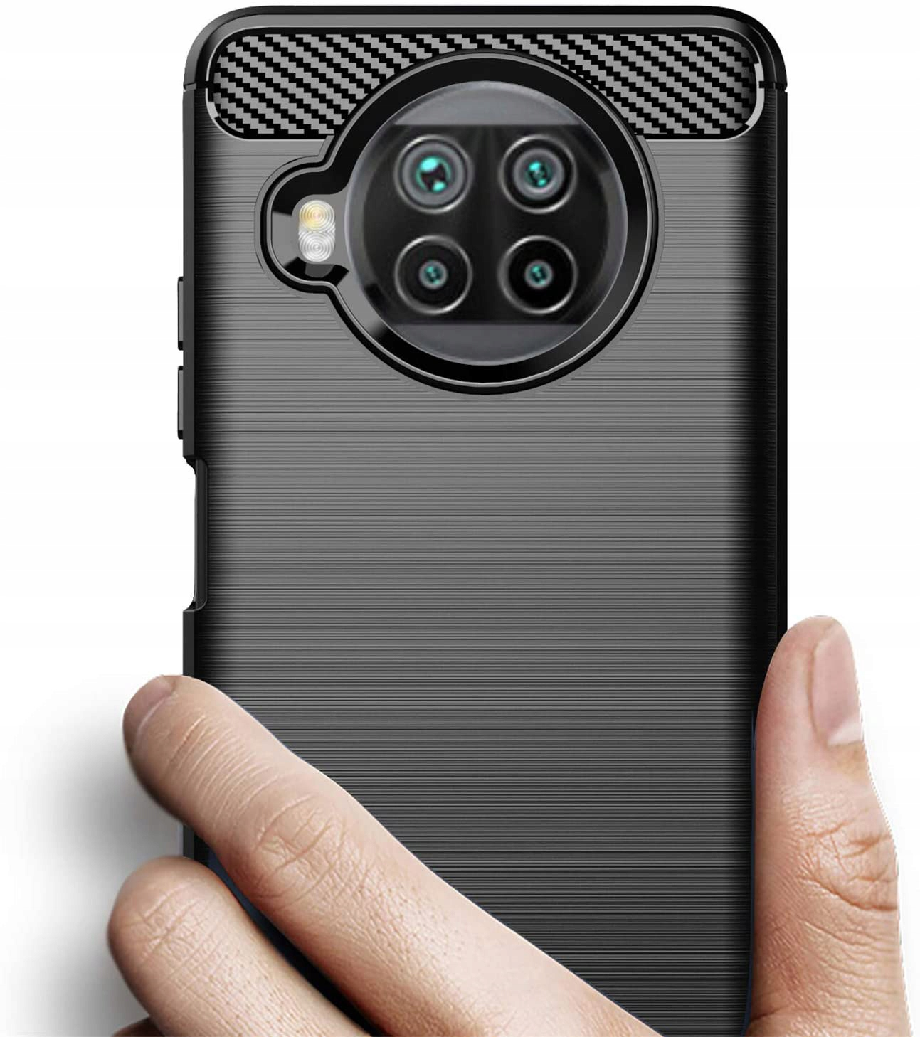 Etui do Xiaomi Mi 10T Lite 5G KARBON CASE + SZKŁO Producent Kraina GSM