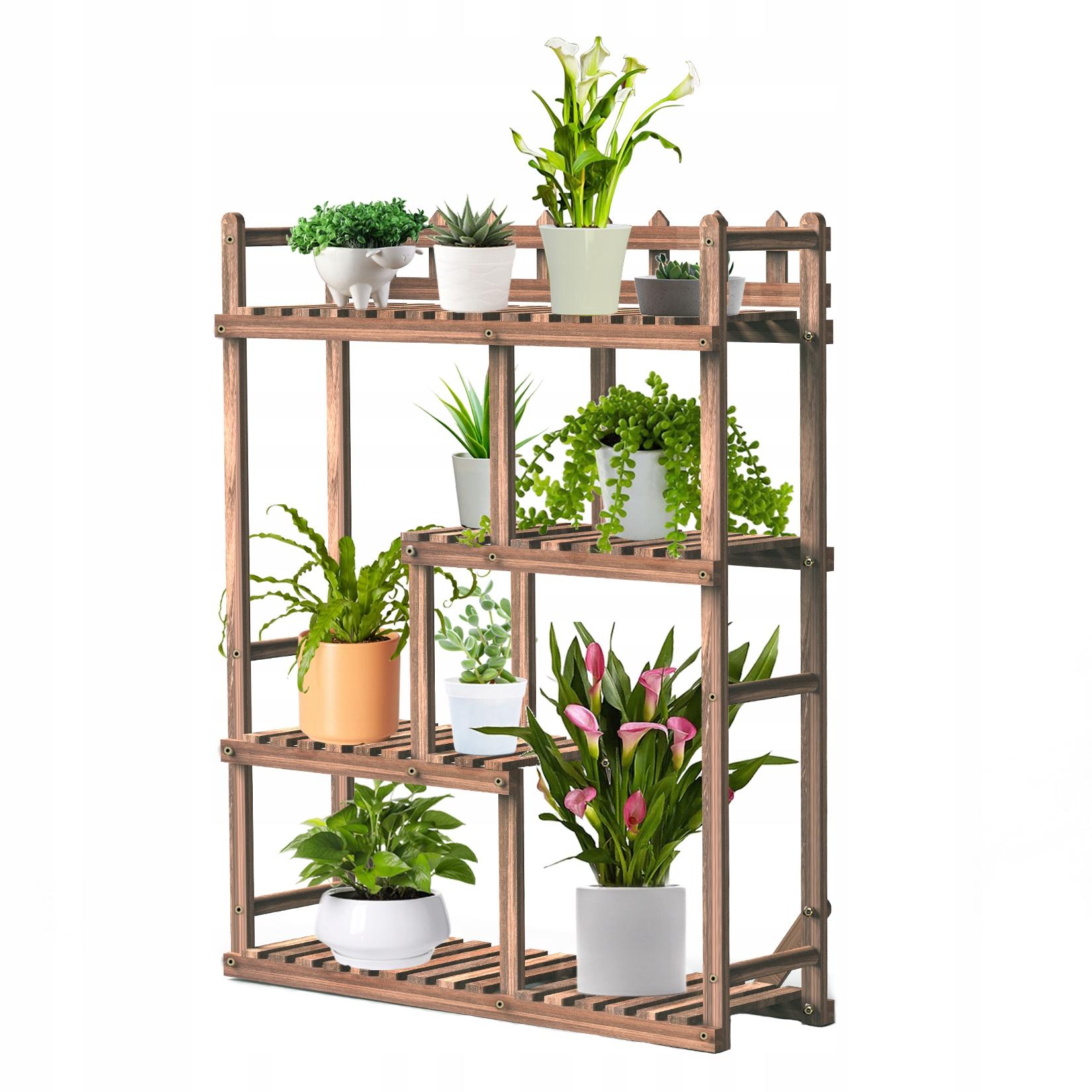 Большая подставка для цветов на деревянной подставке для цветов