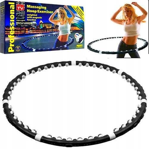 koło hula hop odchudzające fitness masażer