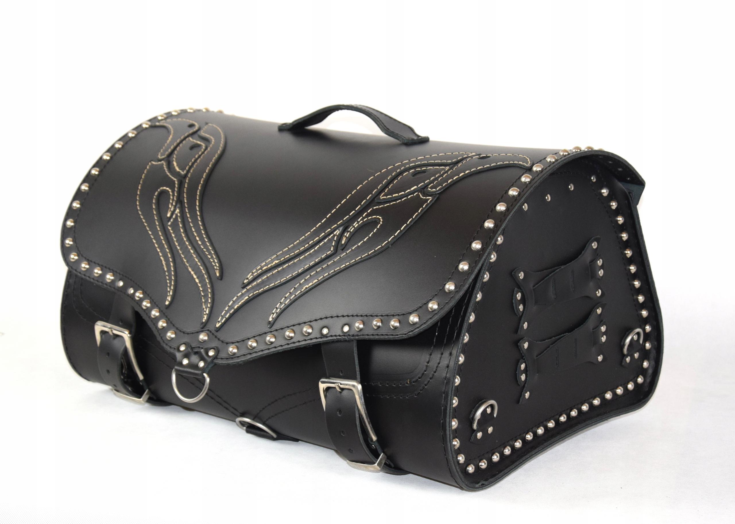 Kufer skórzany motocyklowy - Orzeł na klapie K22 Numer katalogowy producenta K22