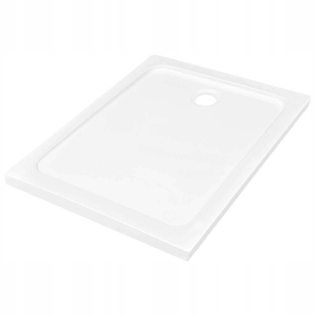 Biela obdĺžniková sprchová vanička ABS 80x110cm