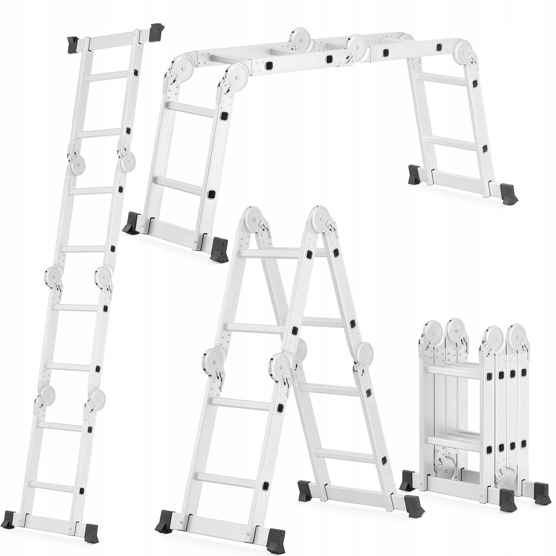 DRABINA aluminiowa przegubowa 4x2 HIGHER ławka