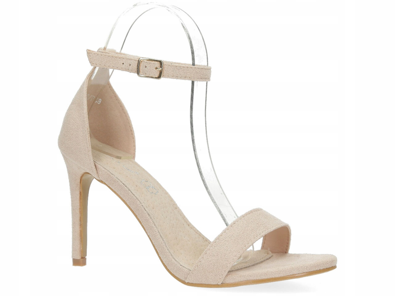 Klasyczne Sandały Szpilki Buty Wkładka Skóra r 41