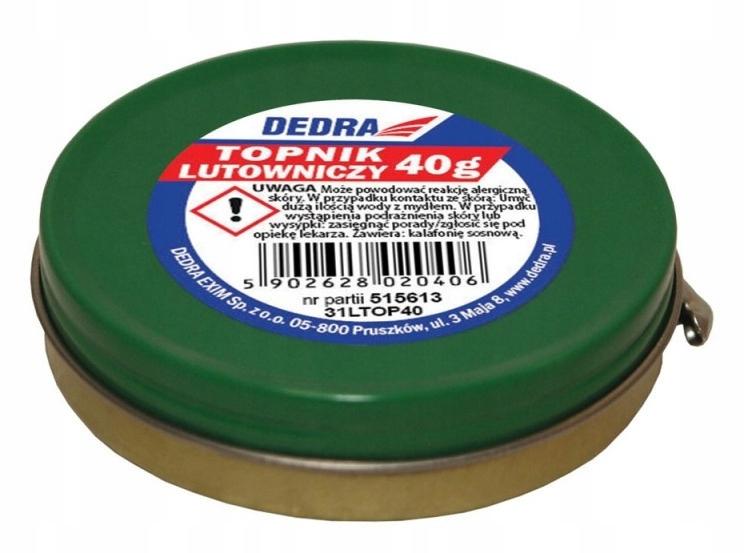 DEDRA 31LTOP40 Topnik-pasta 40 g