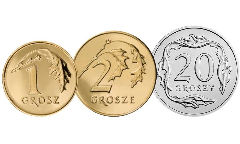 Komplet monet obiegowych 1997 r. UNC 3 sztuki