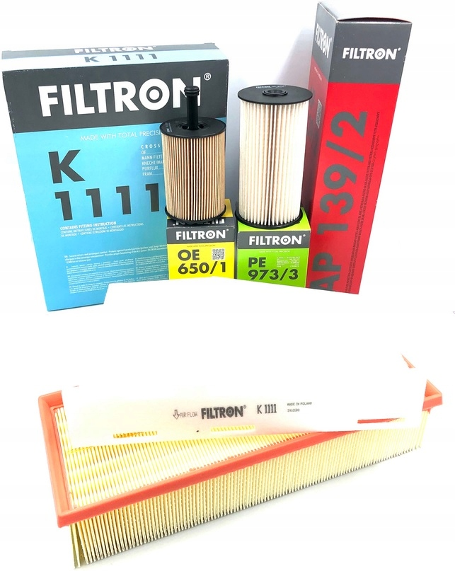 комплект фильтры filtron audi seat skoda vw