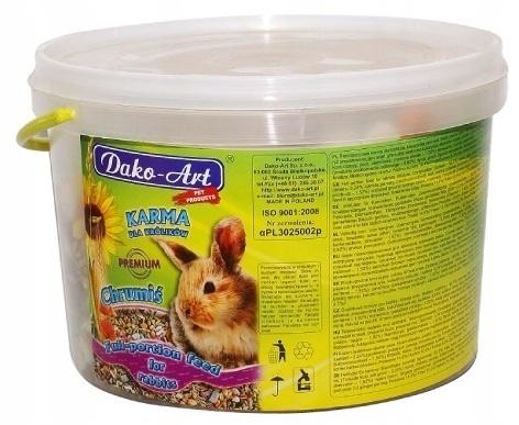 karma pokarm jedzenie dla królika Chrumiś 10 l