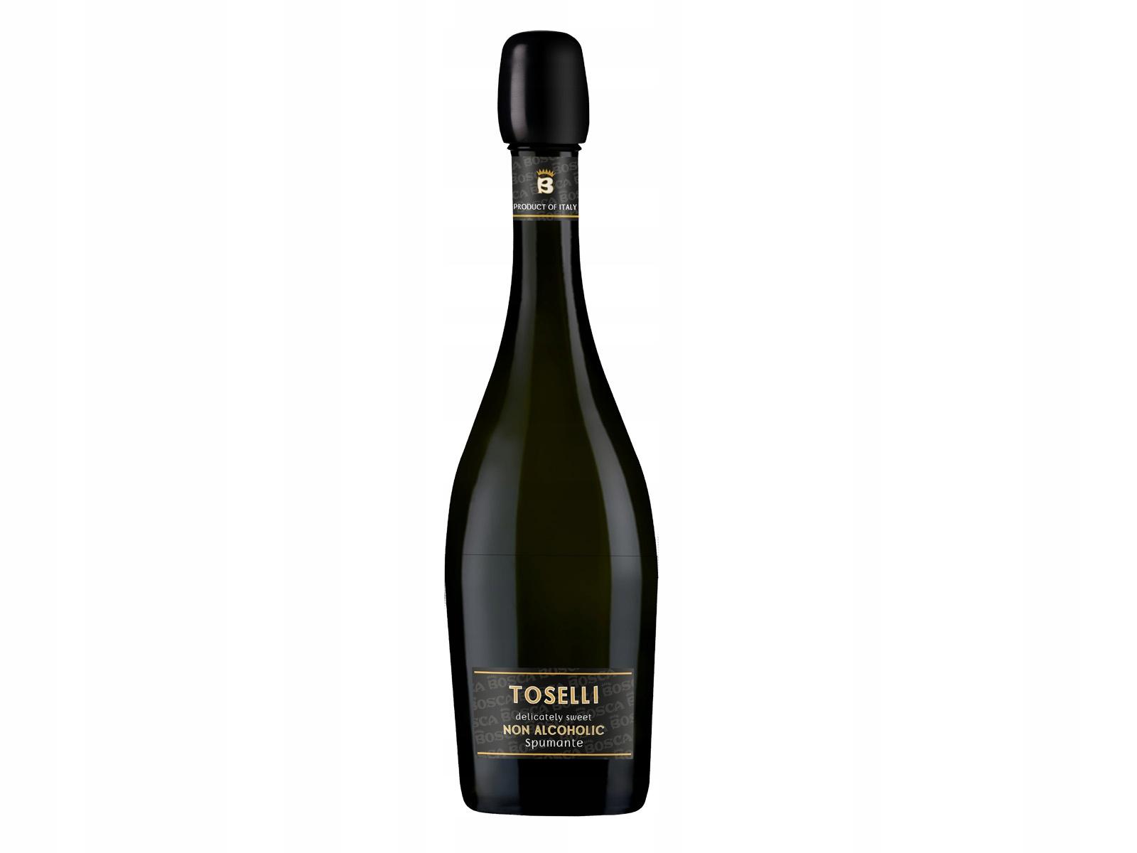 Wino Bezalkoholowe Toselli Białe 0,5% Musujące