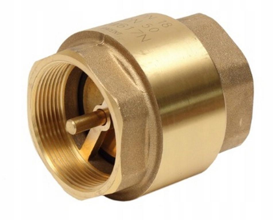 Обратный клапан латунный тарельчатый 1