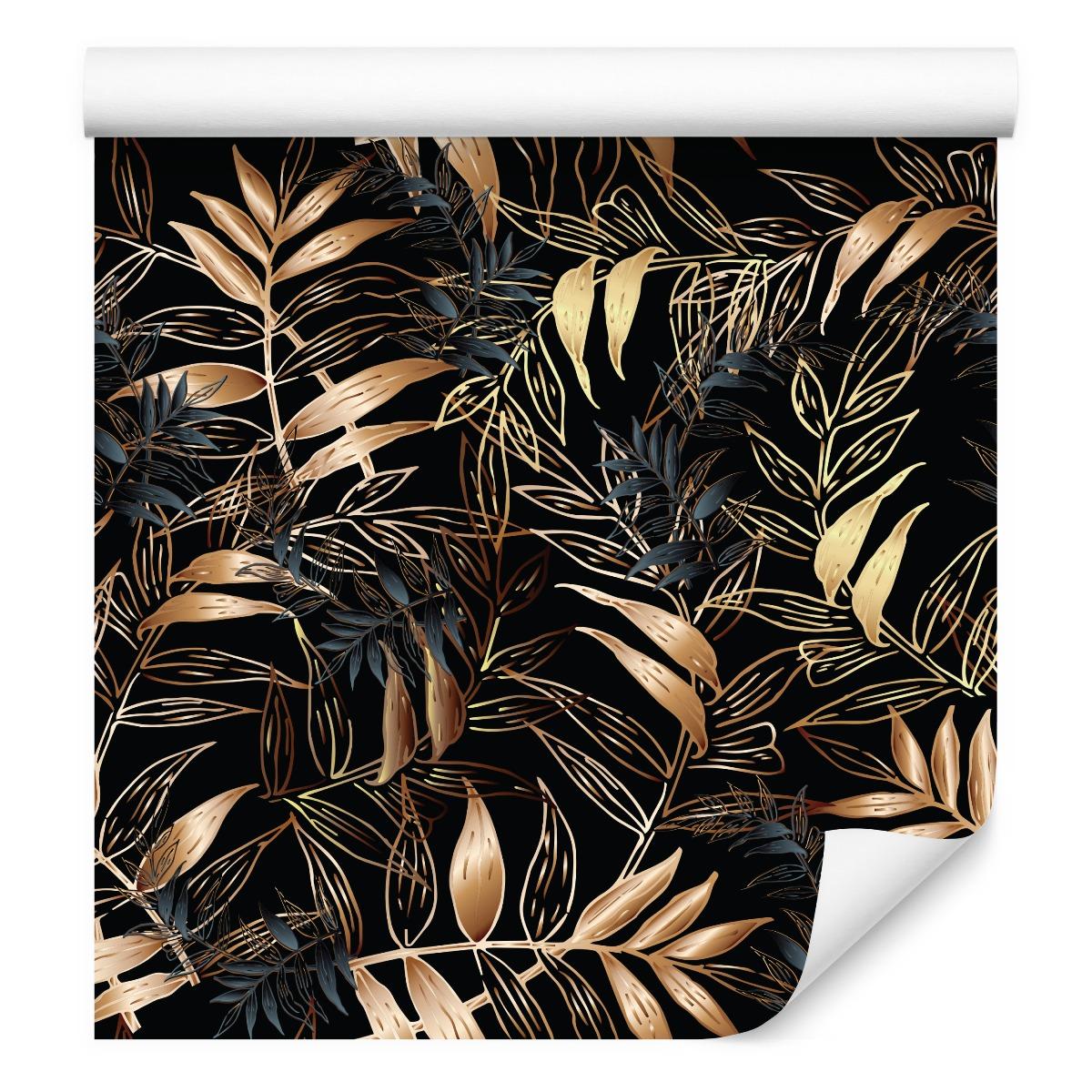 Tapeta do sypialni jesienne liście ORNAMENTY las