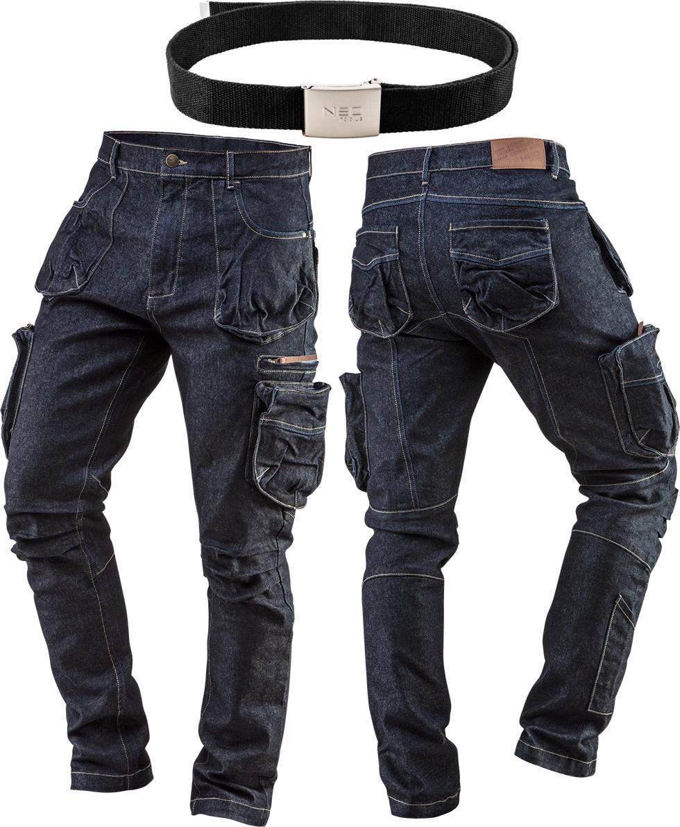 NEO рабочие брюки JEANS размер XL / 54 + ремень