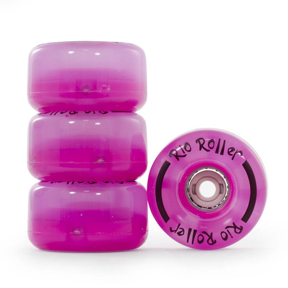 Žiariace kolieska na kolieskové korčule RIO ROLLER LIGHT Pink S