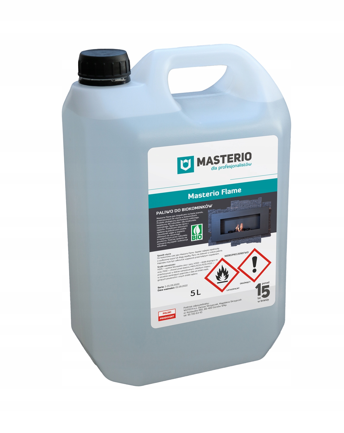 Топливо для биокаминов Masterio Flame biofuel 5L