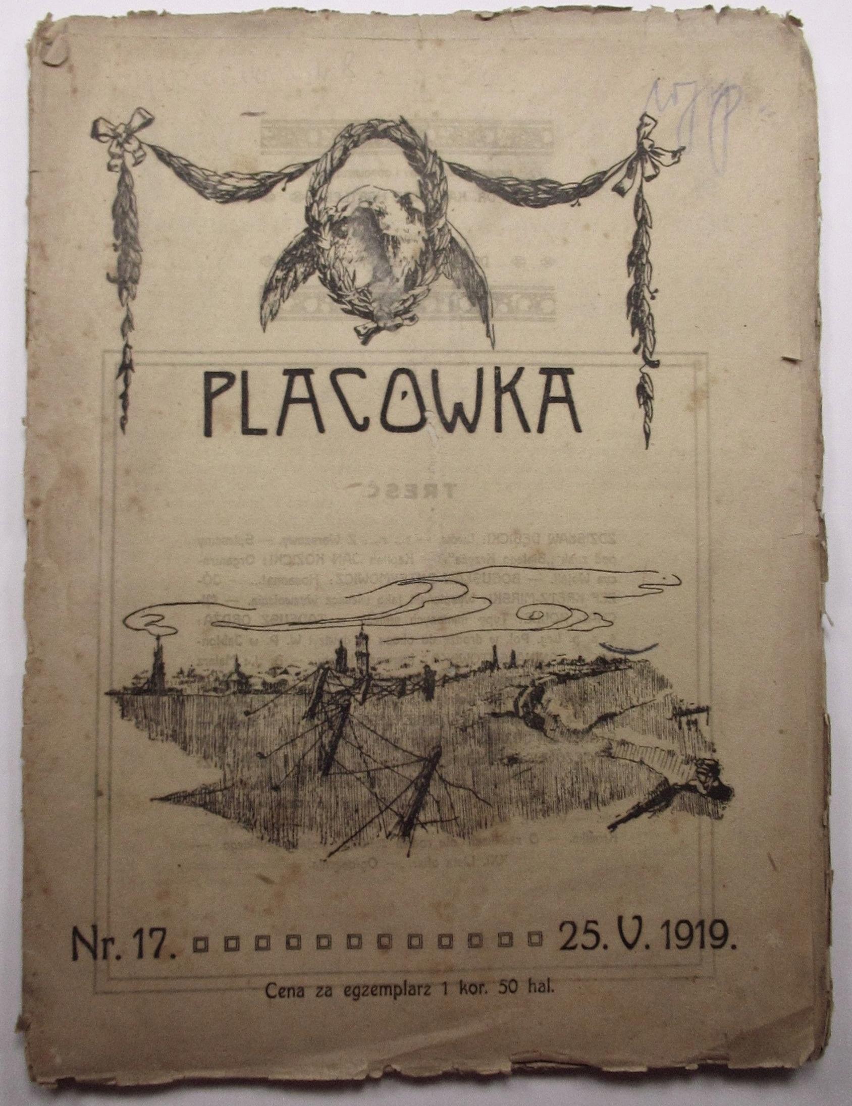 Placówka, Nr 17, Lwów 1919 r, Tygodnik wojskowy