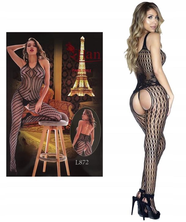 Эротический комплект нижнего белья с чулками для тела SEXY LINE