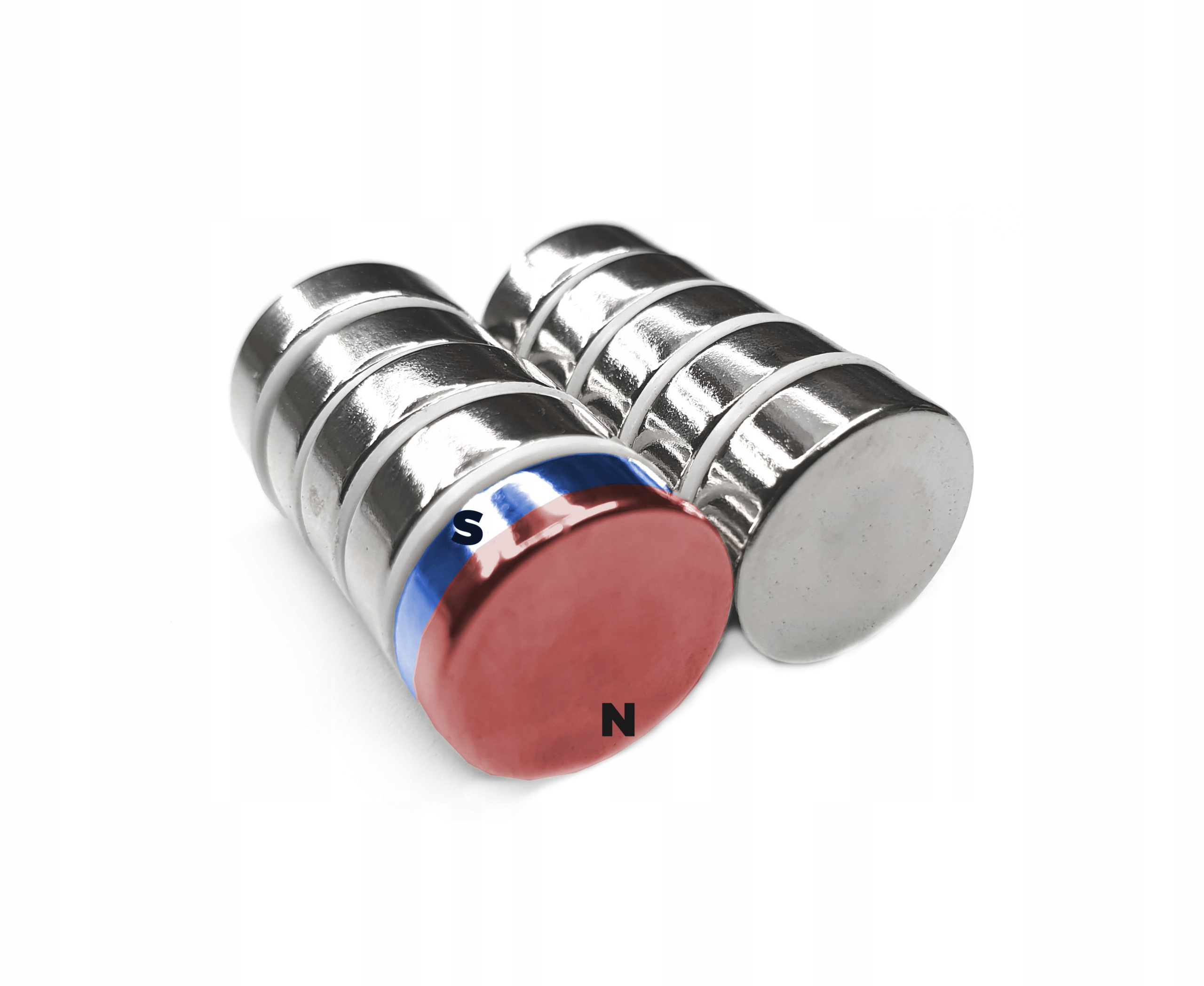 MAGNES NEODYMOWY MAGNESY 10x2 mm 10 szt. Symbol materiału N42