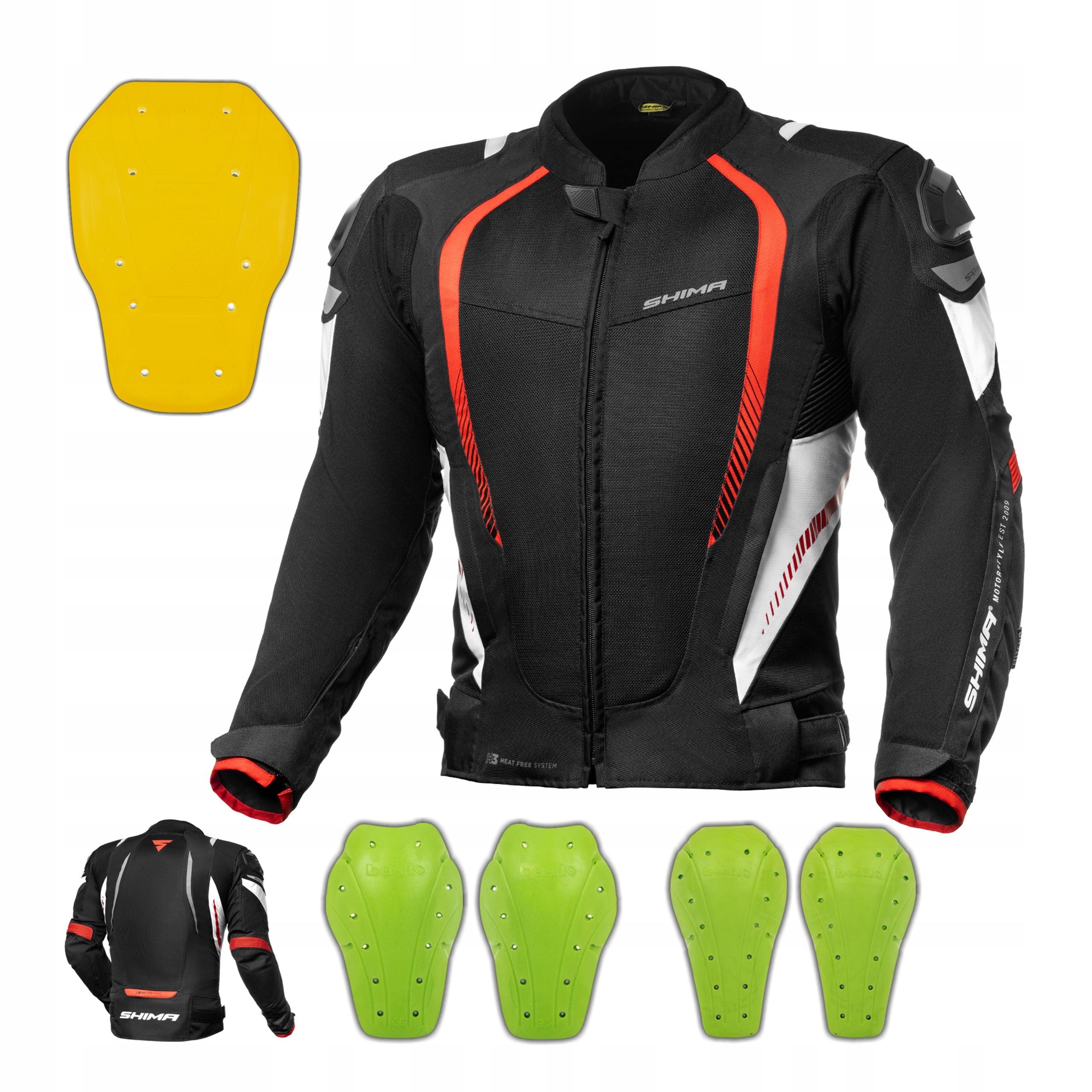 Мотоциклетная куртка SHIMA MESH PRO RED + БЕСПЛАТНО