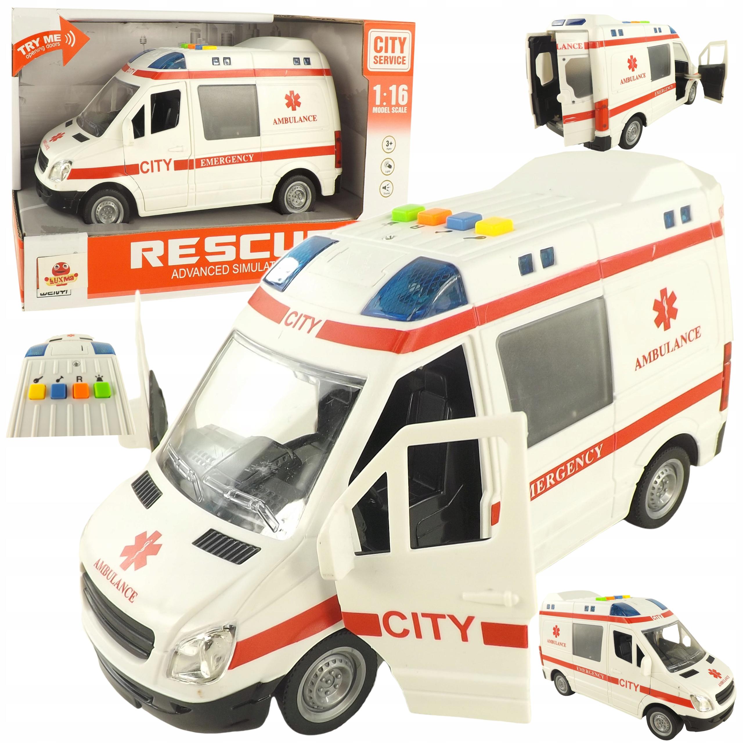 Auto ambulans karetka otwierane drzwi 1:16 WY590A