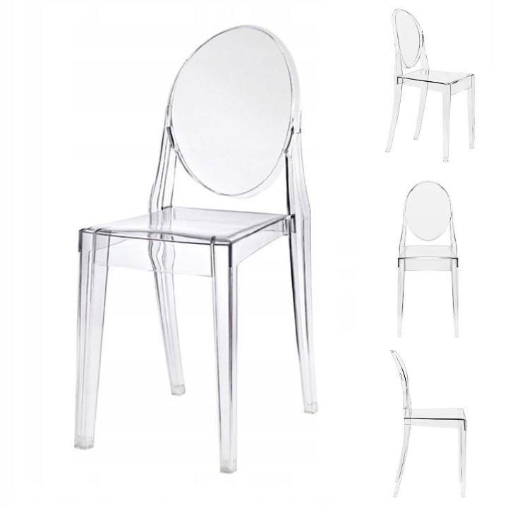 Современный стул из ПОЛИКАРБОНАТА прозрачный VITO