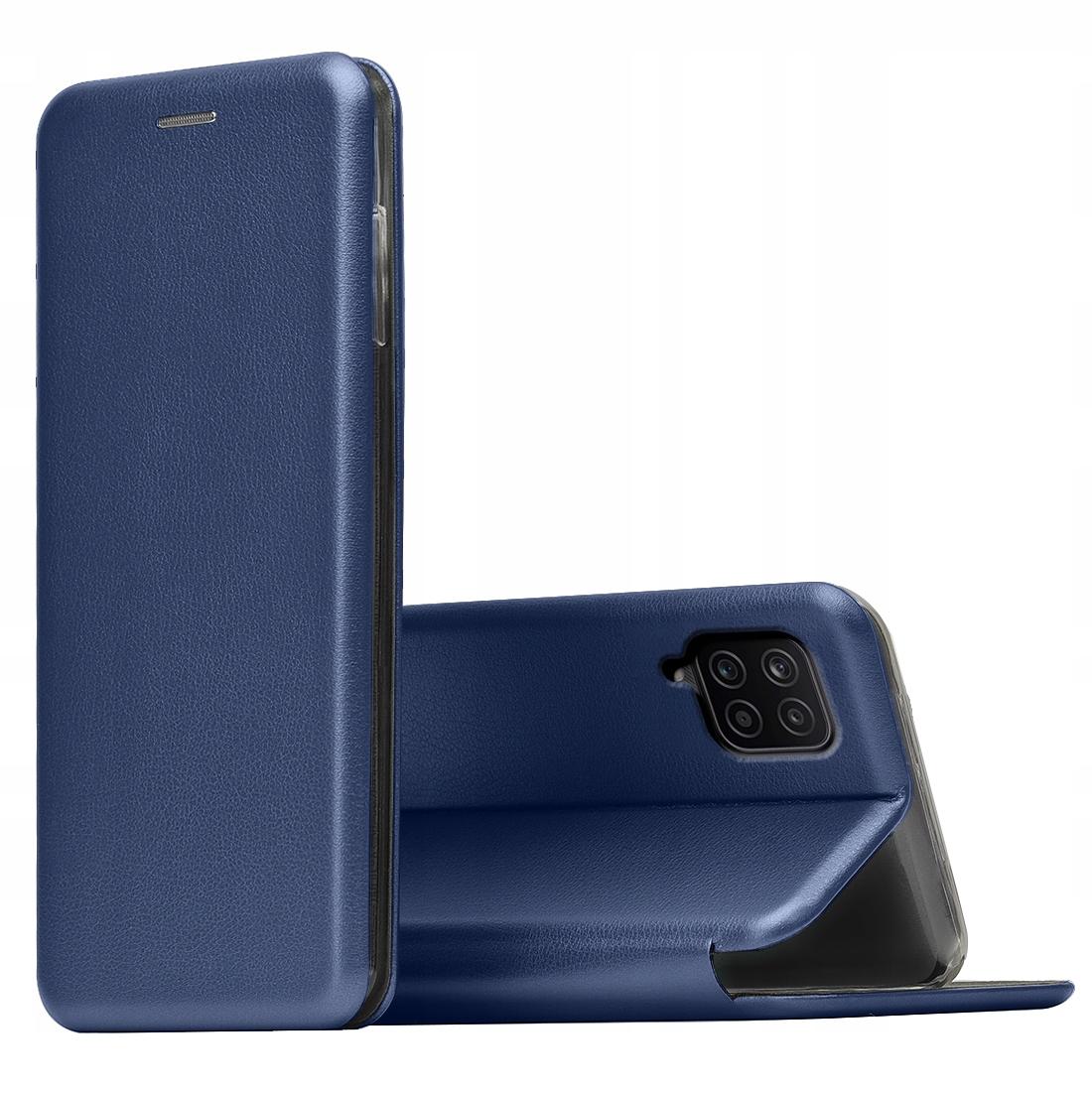 Etui do Samsung Galaxy A12 SKÓRZANE CASE + SZKŁO