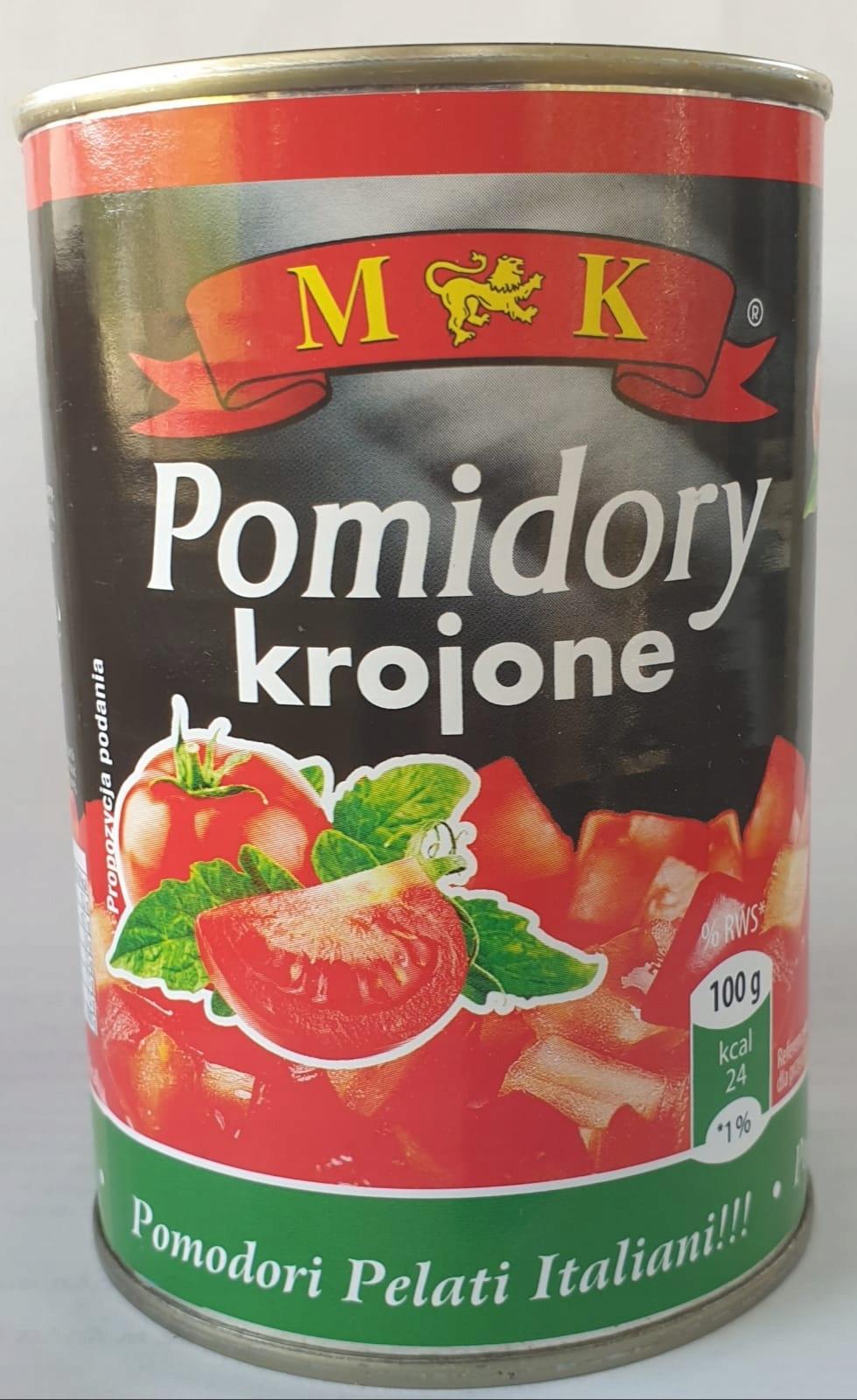 Нарезанные помидоры, МК, 400г