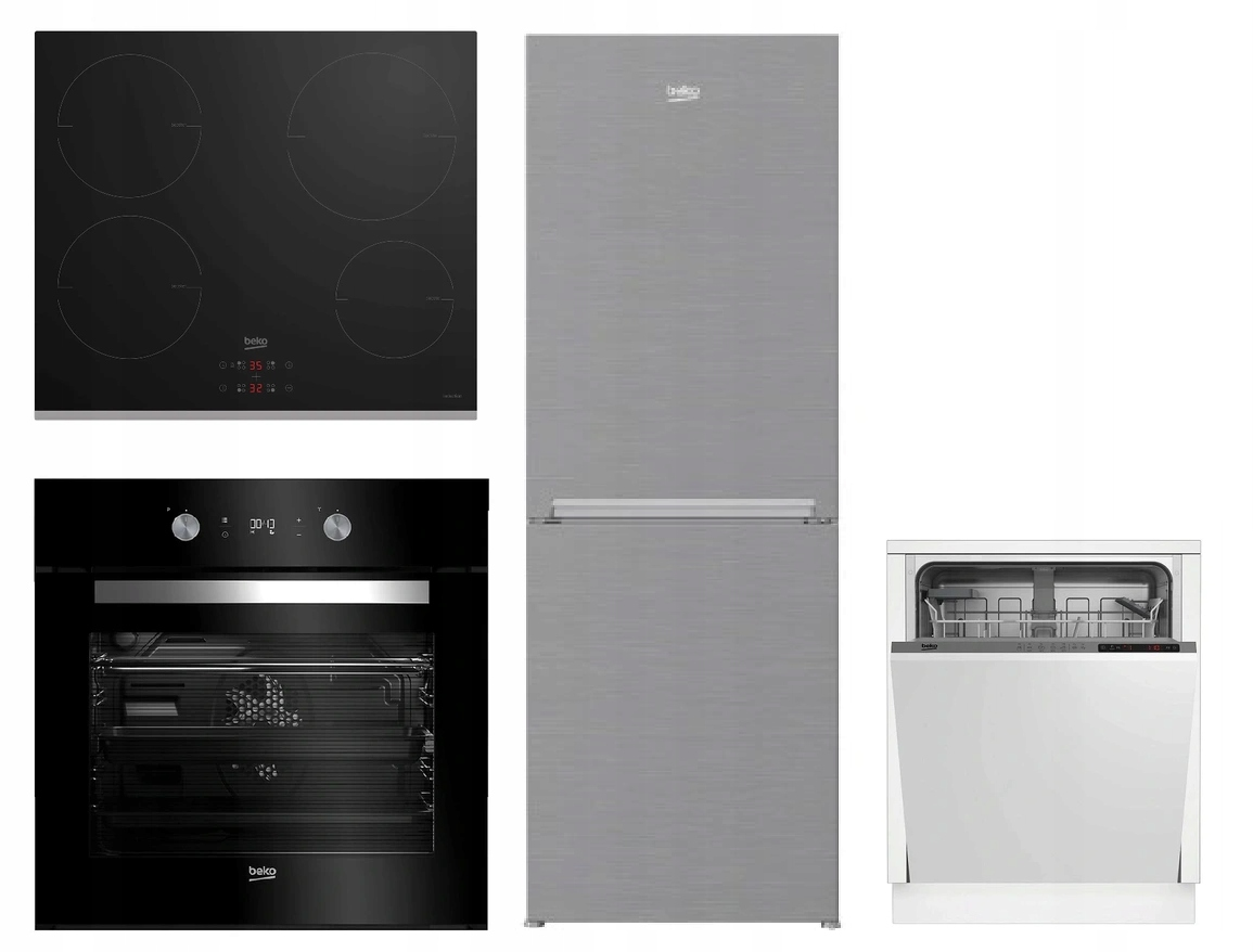 Beko плита + духовка + посудомоечная машина + холодильник