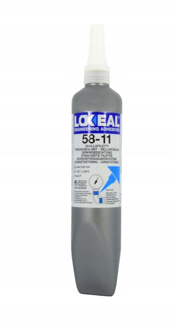 LOXEAL 58-11 -KLEJ DO POŁĄCZEŃ GWINTOWYCH 250ml EAN 5708923014504