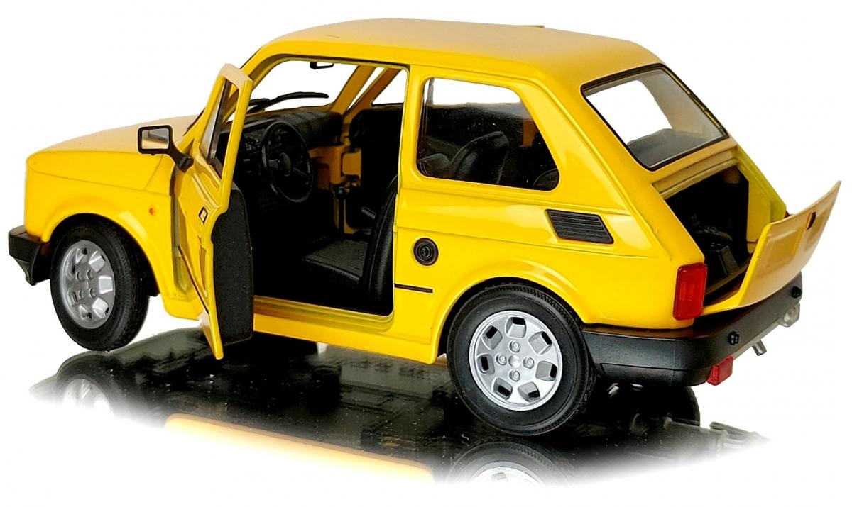 FIAT 126p Duży MALUCH Samochód PRL Auto Welly 1:21