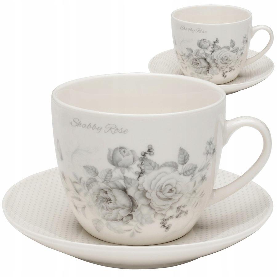 Набор из 2 кофейных чашек Shabby Rose 250 мл