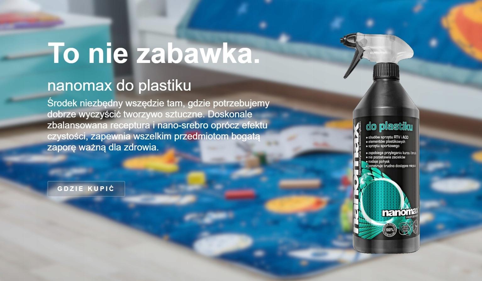 nanomax - do plastiku 1L Postać płyn