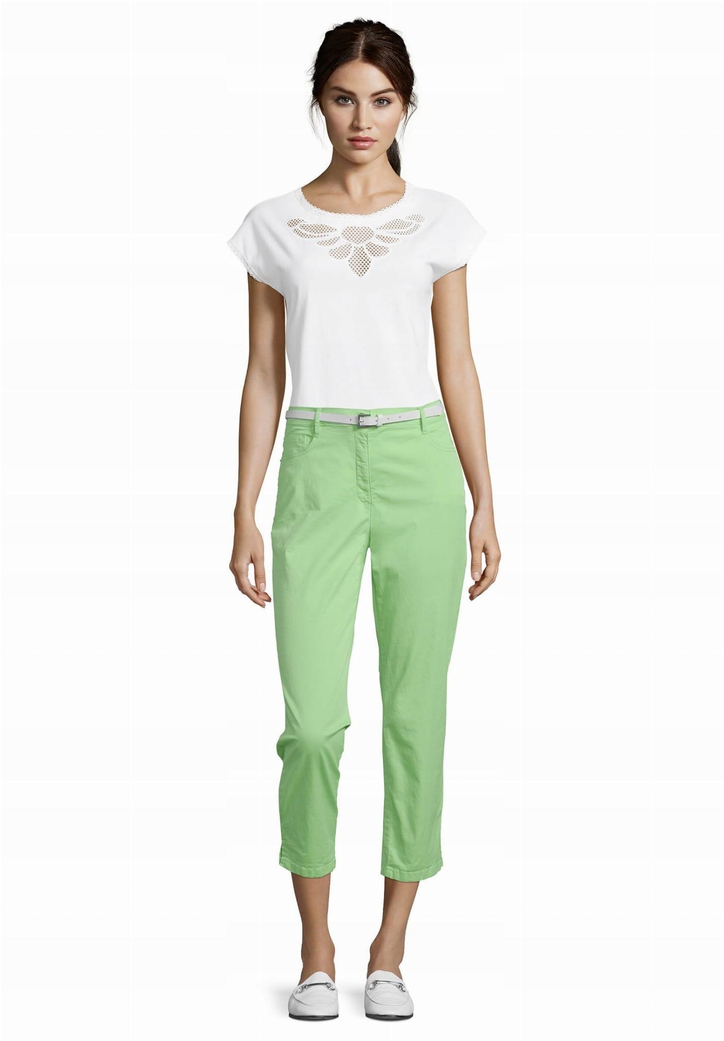 Spodnie BETTY BARCLAY limonkowe 7/8 rozmiar 36