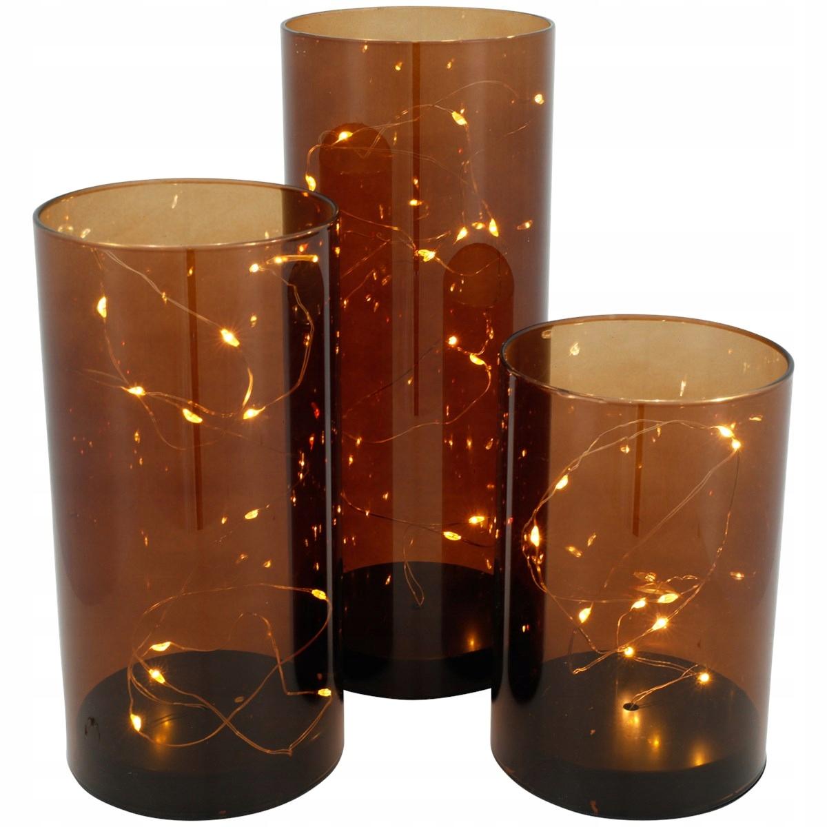Стеклянные трубки ваза для украшения Led Glamour 3 шт.