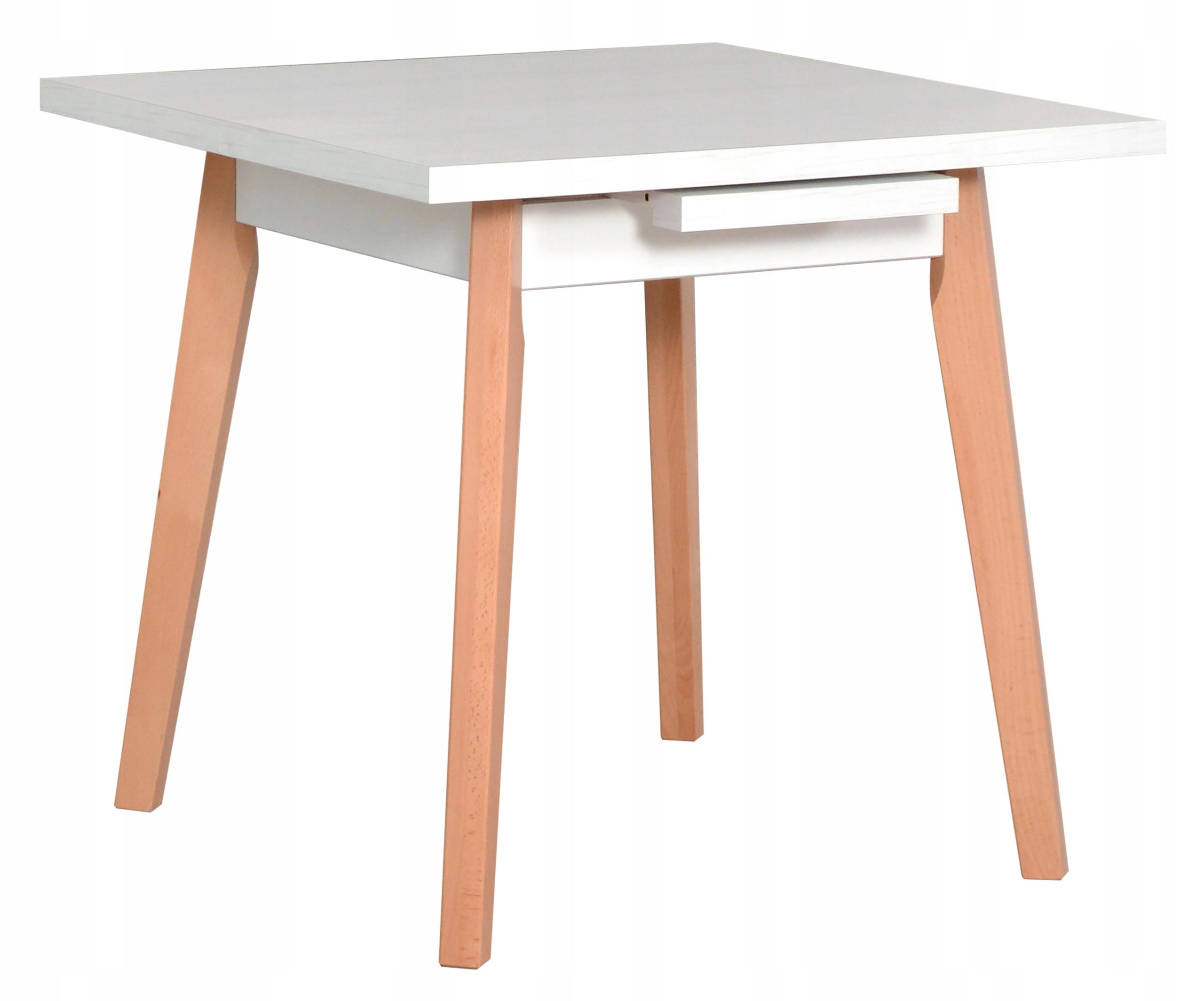 Nowoczesny Stół OSLO 1L Rozkładany do 110 cm Biały