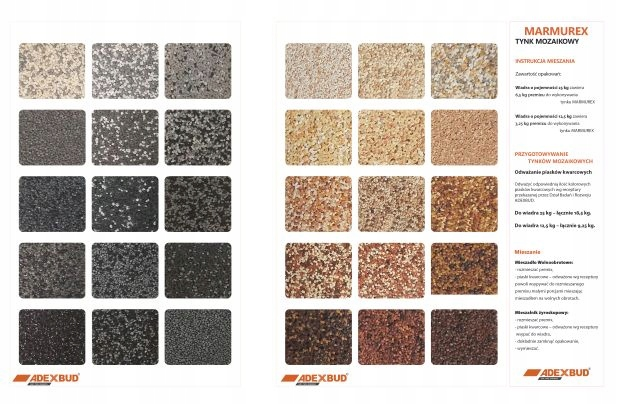 ADECO grunt tynk mozaikowy żywiczny marmurit 1,3kg