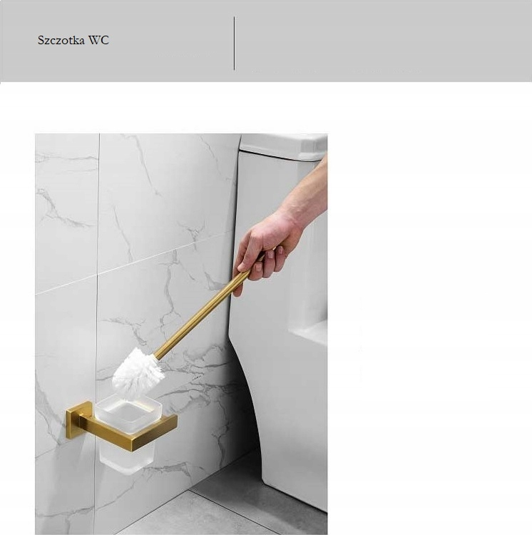 Držiak na toaletnú kefu zlatý - séria Hanga 1