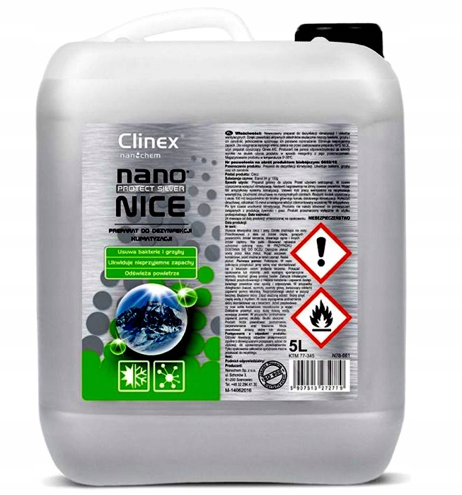 Clinex Nano Nice 5Л дезинфекции кондиционера