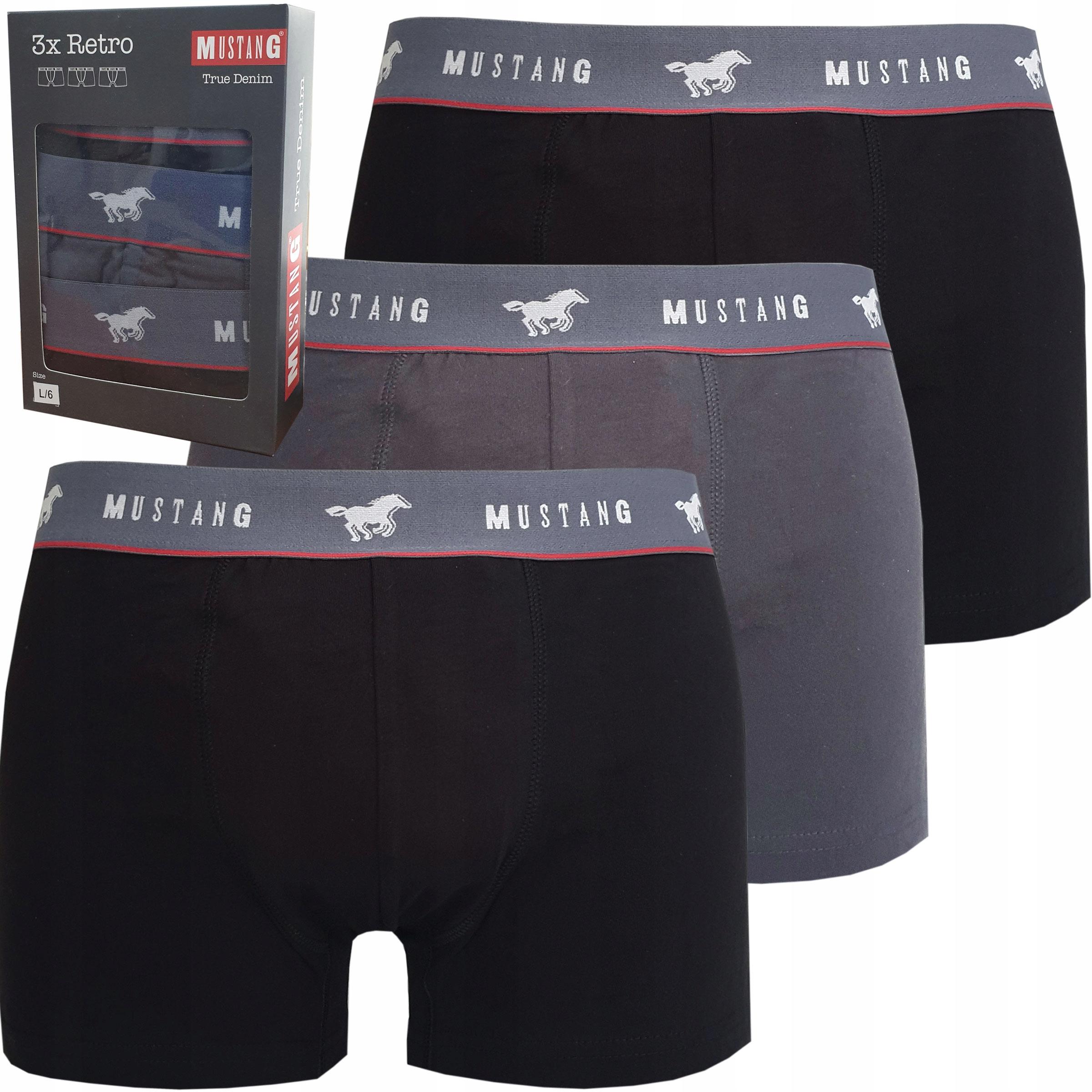 Mustang True Denim 3-pack boxerky RETRO MUS. Ľ