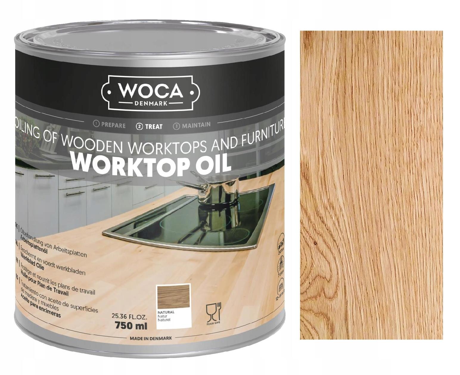 Olej do blatów WOCA WORKTOP OIL naturalny 0,75L