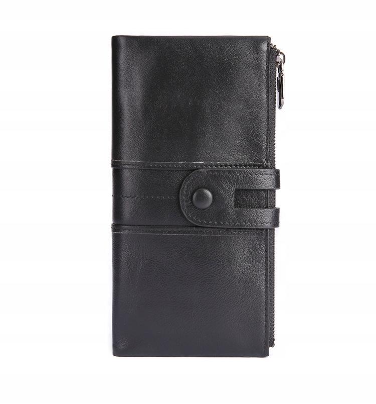 Pánska / dámska RFID kožená peňaženka Retro peňaženka
