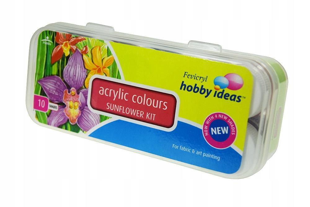 Zestaw farb do tkanin Fevicryl  10 kolorów