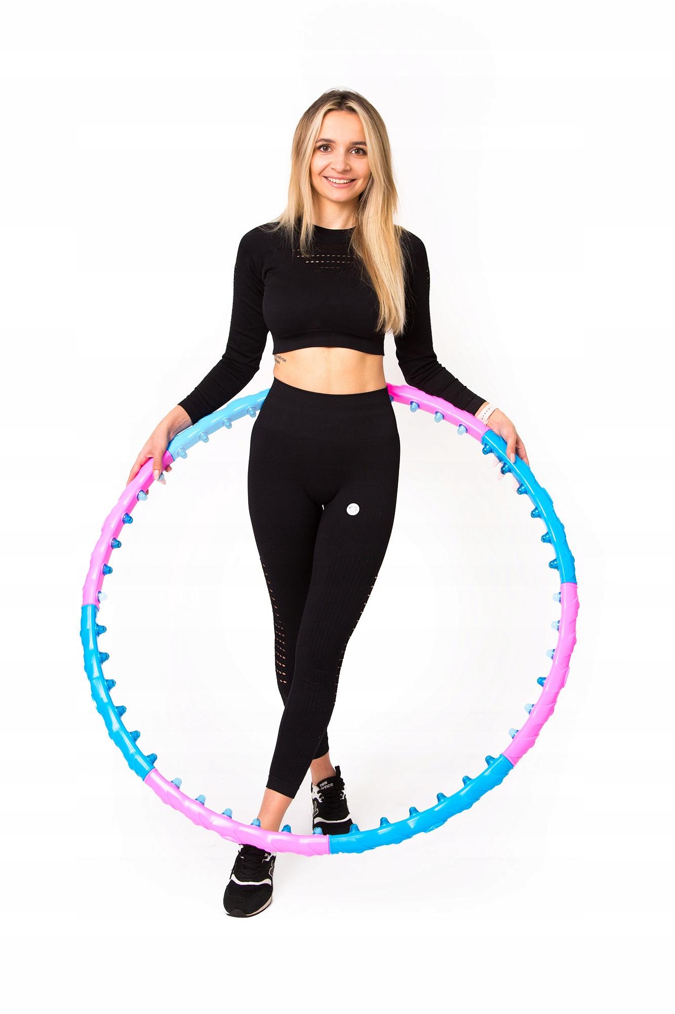 Odchudzające HulaHop Koło Składane Hula Hoop Masaż Model wypustki