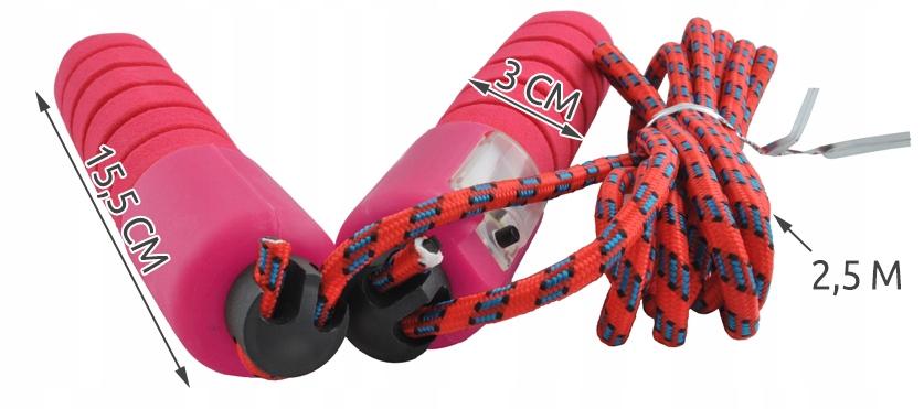 Skakanka z licznikiem crossfit regulacja 250cm Długość linki 250 cm