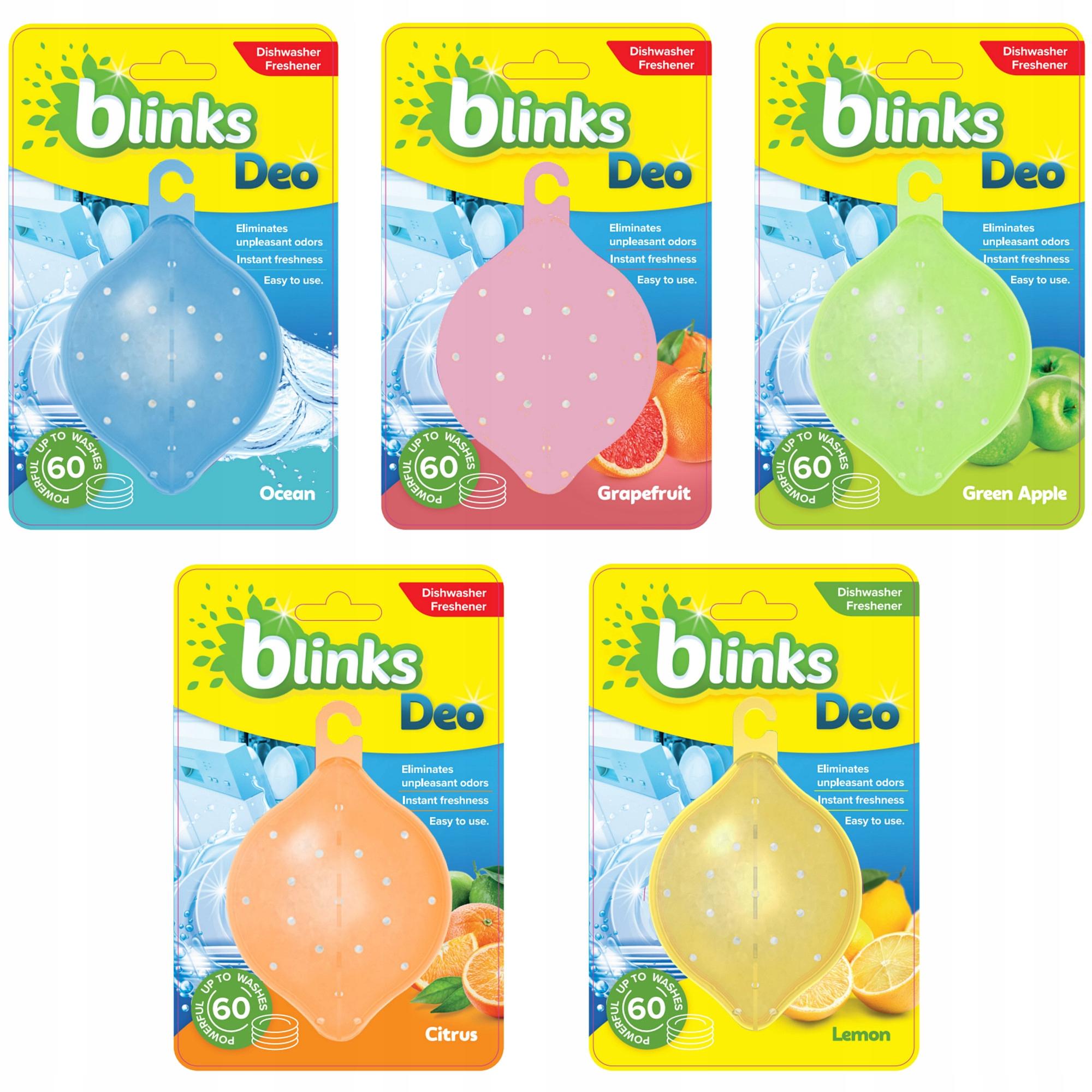 Blinks Deo Освежитель Запах для Посудомоечной машины 5шт ВЕЛИКОБРИТАНИИ