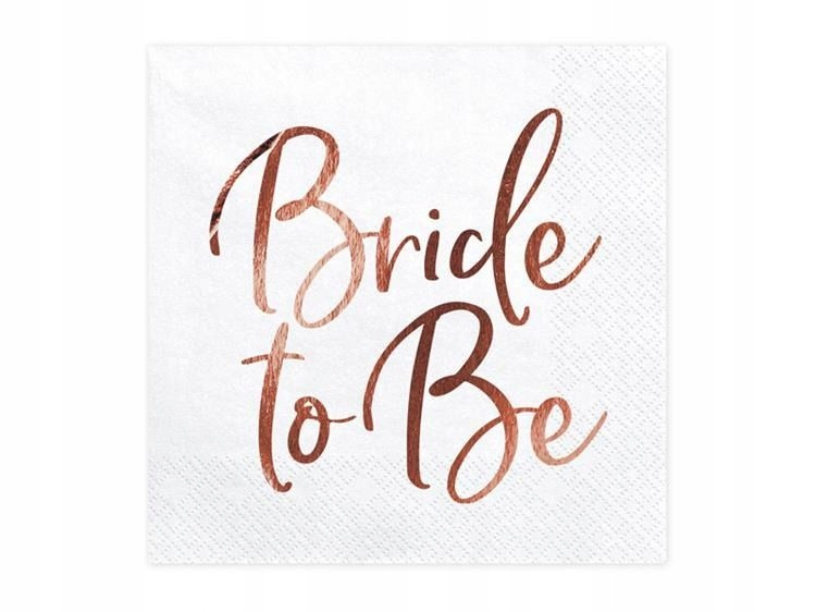 Item THE BRIDE TO BE NAPKINS 20 PCS WHITE 33 CM HEN PARTY