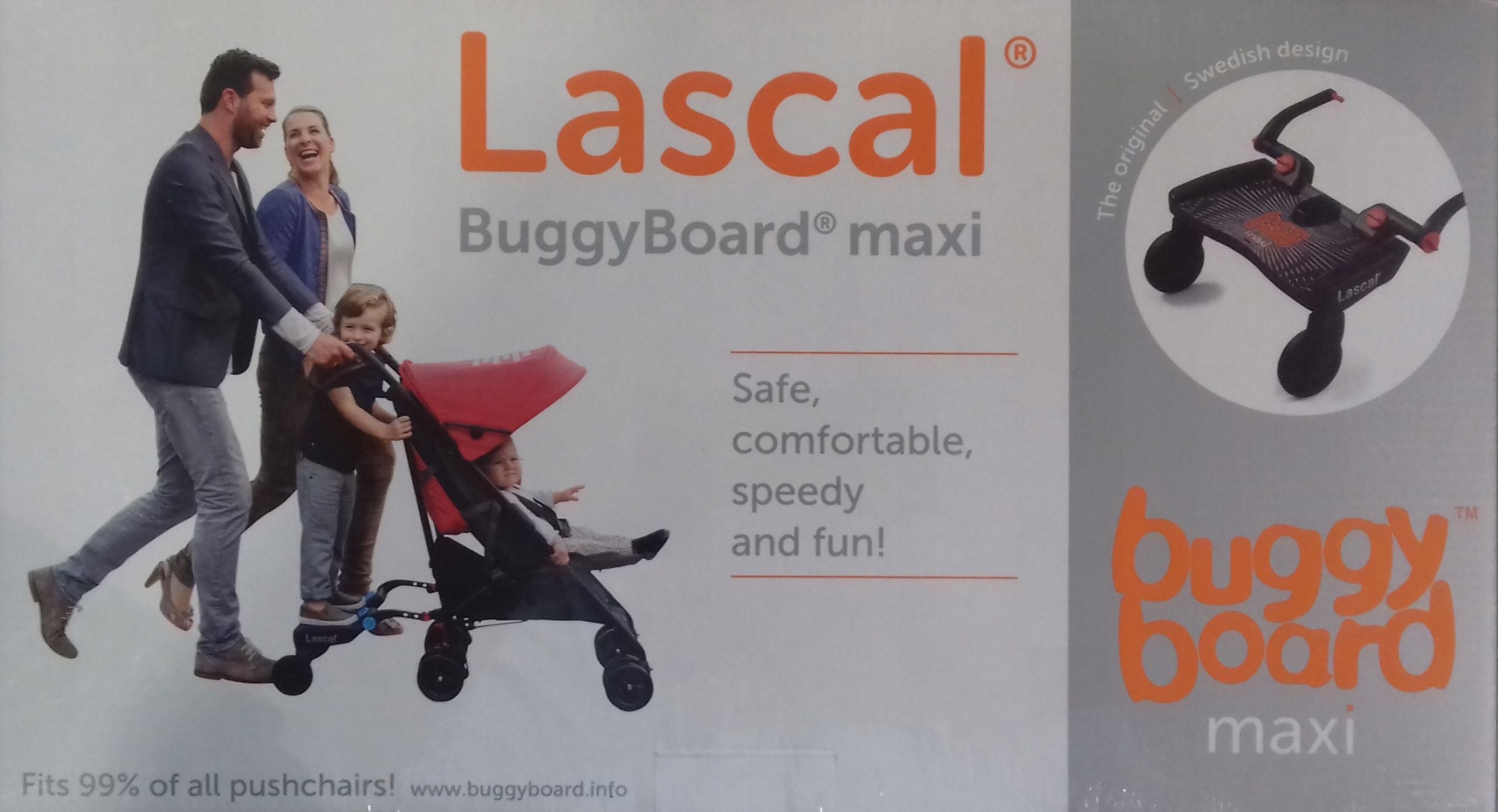 Doplnok Lascal BuggyBoard Maxi Black do 22 kg !!